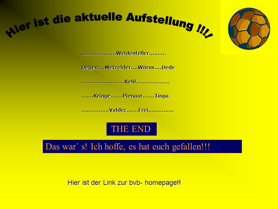 Sebastian Kehl Hey, genauso vielfältig wie Powerpoint ist der Fan- Shop des BVB !!!!