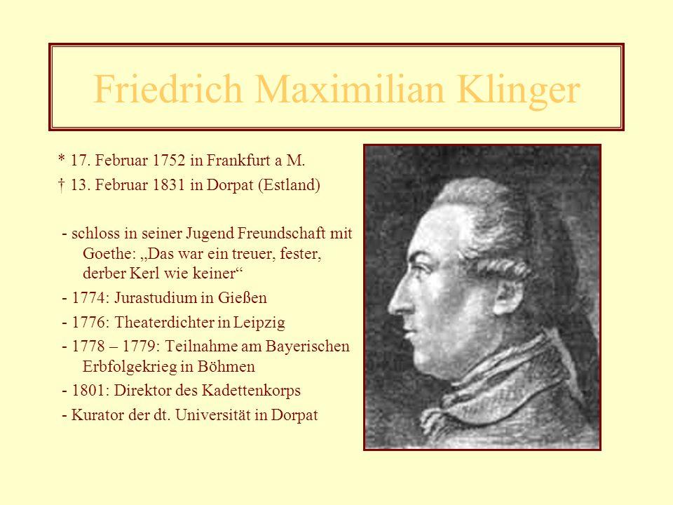 Johann Wolfgang von Goethe Werke Vor dem Wandel: - Die Leiden des jungen Werther (1772) - Sesenheimer Lieder (1770) - Prometheus (1773) Nach dem Wande