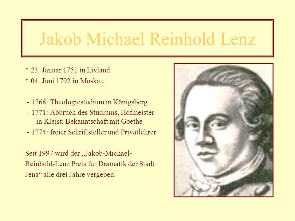 Friedrich Maximilian Klinger Werke - Sturm und Drang (1776) - Das leidende Weib (1775) - Die Zwillinge (1776) - Geschichte eines Teutschen der neusten