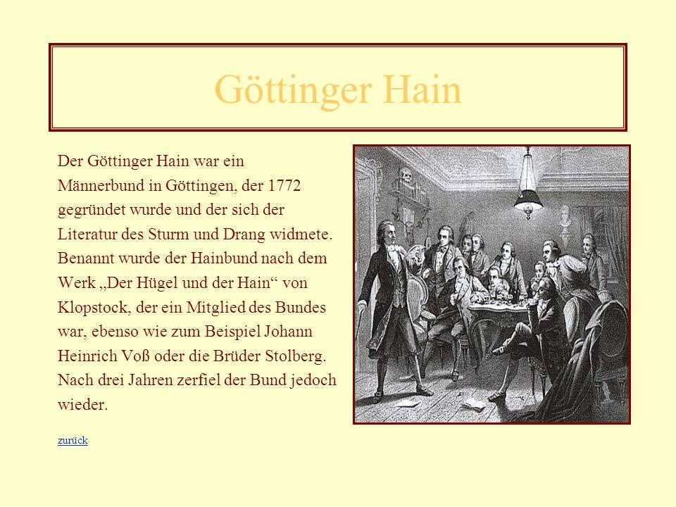 Johann Christoph Friedrich Schiller Werke Vor dem Wandel: - Die Räuber (1781) - Kabale und Liebe (1783) - Don Carlos 81783) Nach dem Wandel: - Wallens