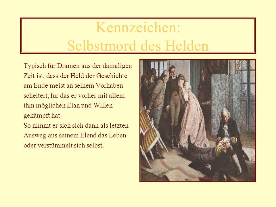 Regellosigkeit beim Schreiben Das letzte Merkmal für den Sturm und Drang ist die Regellosigkeit im Schreiben: Goethe hält sich nicht immer an die bestehenden Satzbau- und Grammatikregeln, sondern schreibt sein Werk nach seinen eigenen Vorstellungen.