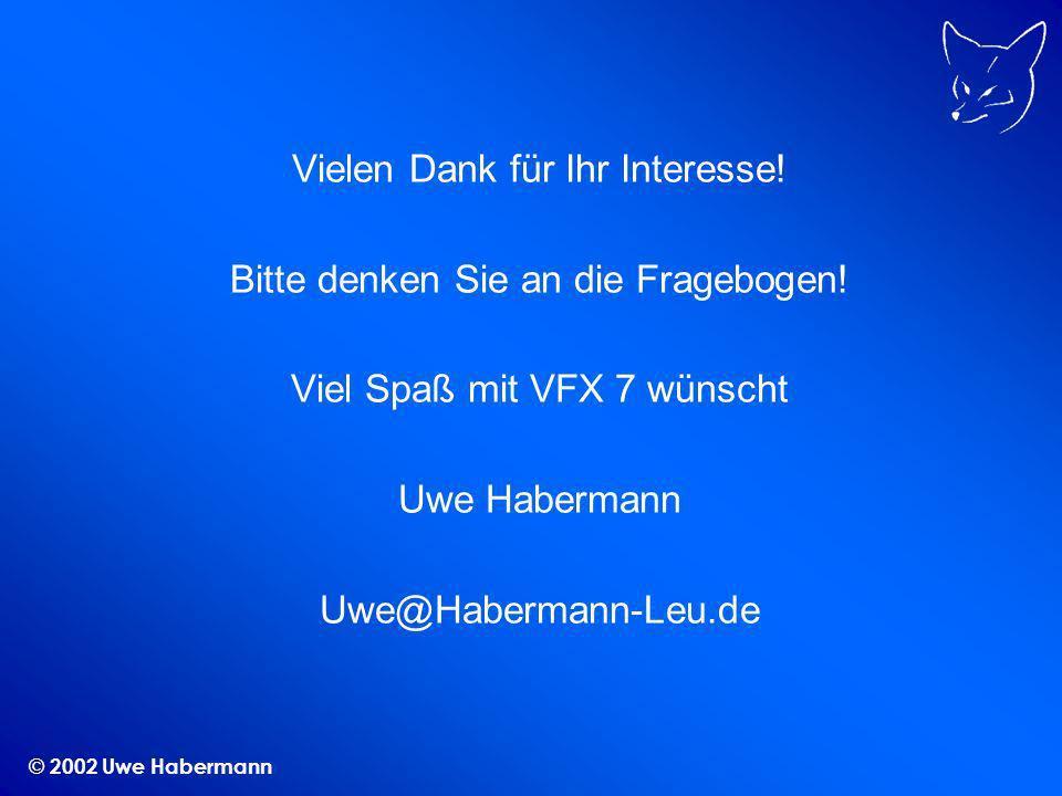 © 2002 Uwe Habermann Vielen Dank für Ihr Interesse.