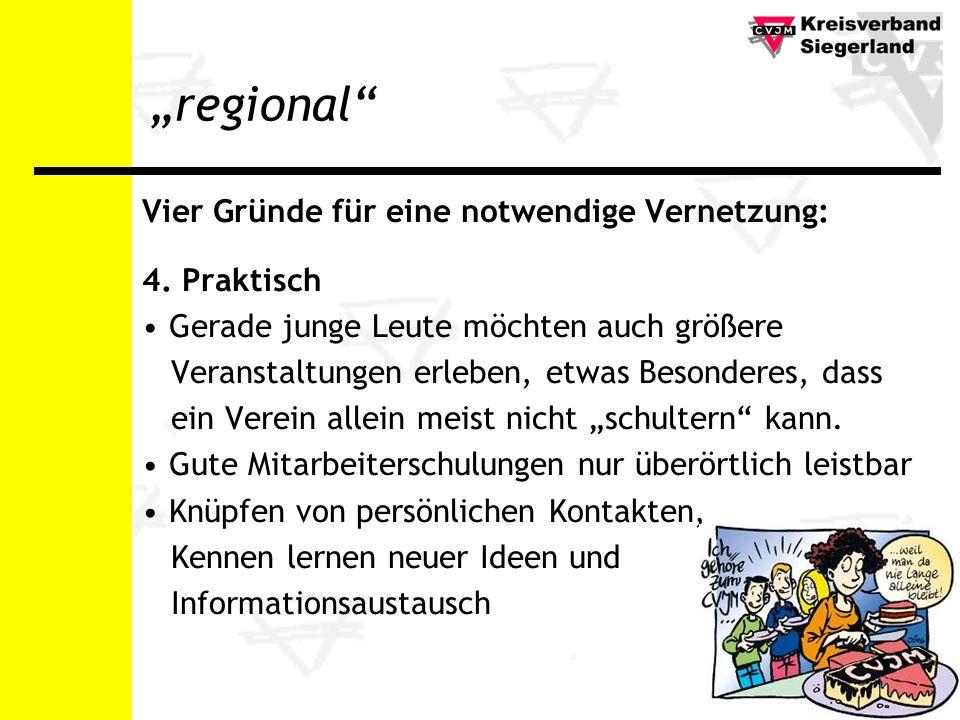 regional Vier Gründe für eine notwendige Vernetzung: 4.