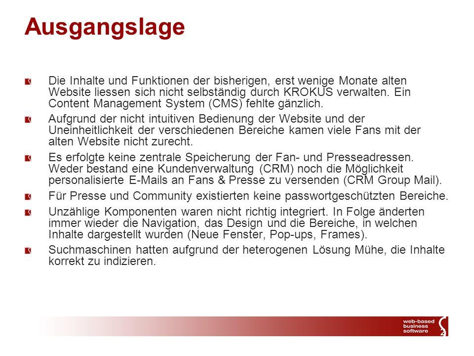 3 Massnahmen Bau einer voll Integrierten Lösung mit zentraler Verwaltung der Daten via Webbrowser.