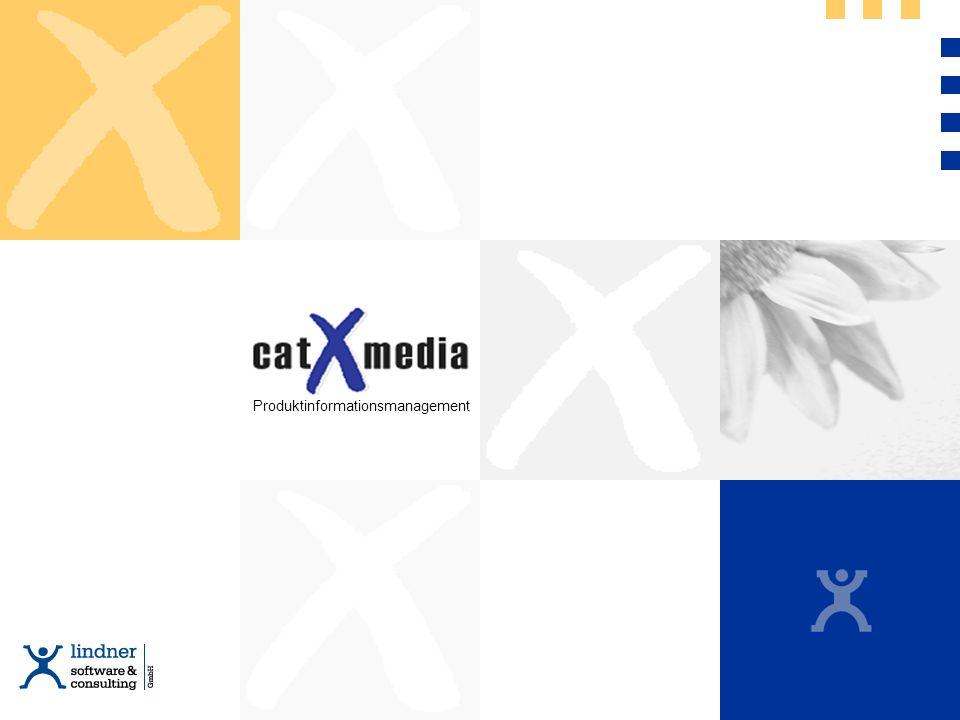 Basis für eCommerce Produktpräsentation im Internet, Intranet und auf CD-Rom Sortiments- und Katalogverwaltung Kostensenkung bei der Katalogerstellung Unternehmensweite Konsistenz und Verfügbarkeit der Informationen Dokumentationserstellung für Anlagensysteme Mehrsprachigkeit und Unicode-Unterstützung Frei definierbare Produktbeziehungen Die wichtigsten Vorteile Die wichtigsten Vorteile von catXmedia im Überblick