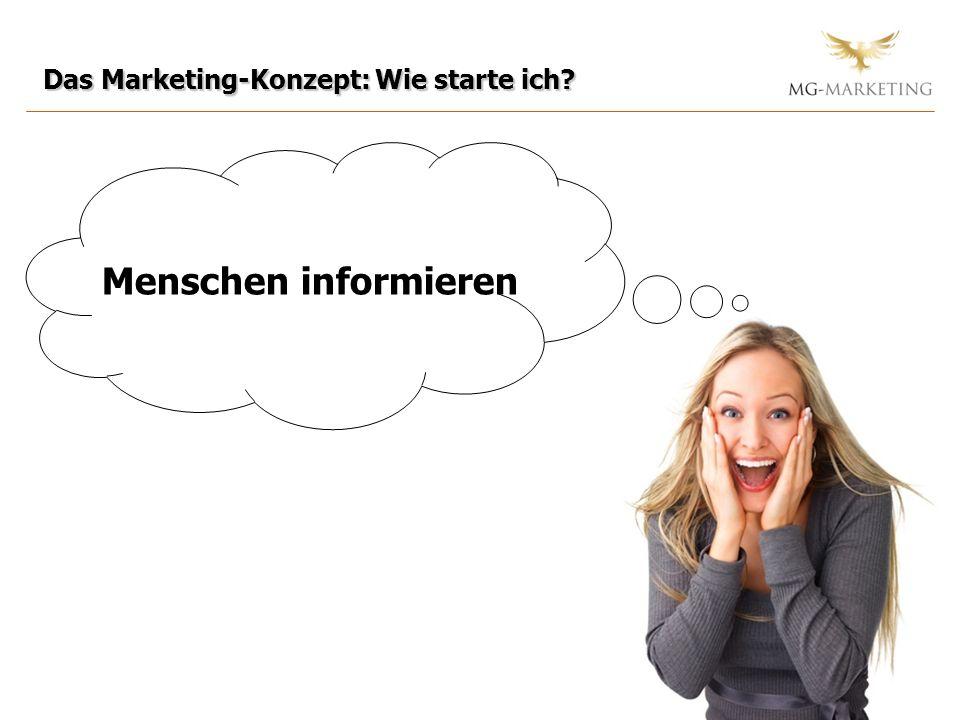 Das Marketing-Konzept: Wie starte ich? Menschen informieren