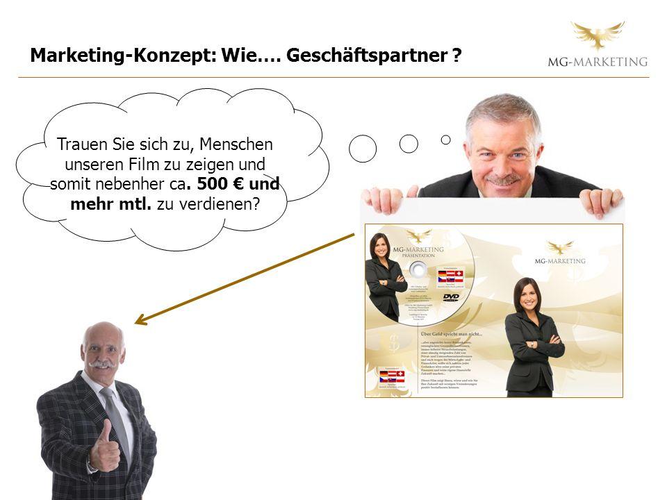 Marketing-Konzept: Wie….Geschäftspartner .