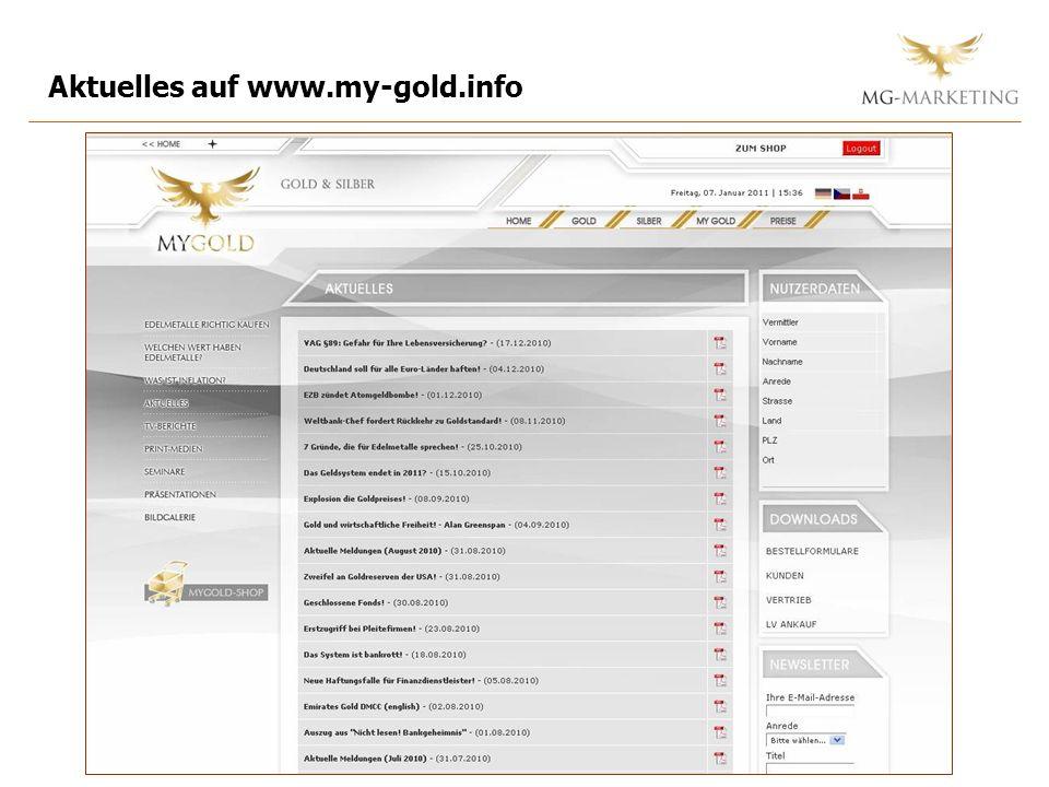 Aktuelles auf www.my-gold.info