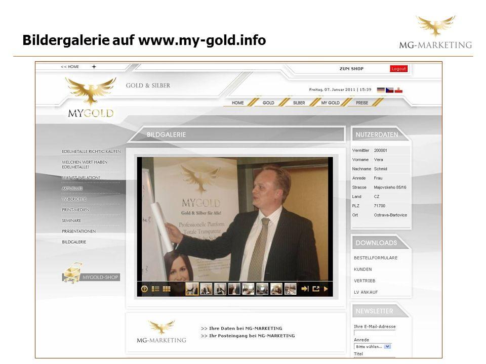 Bildergalerie auf www.my-gold.info
