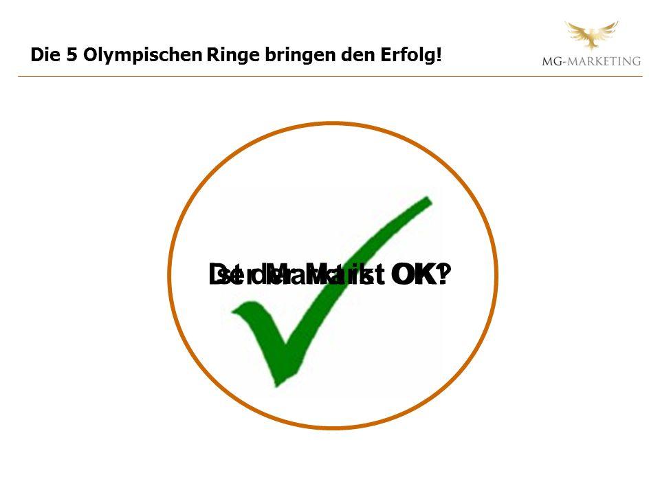 Ist der Markt OK? Die 5 Olympischen Ringe bringen den Erfolg! Der Markt ist OK!