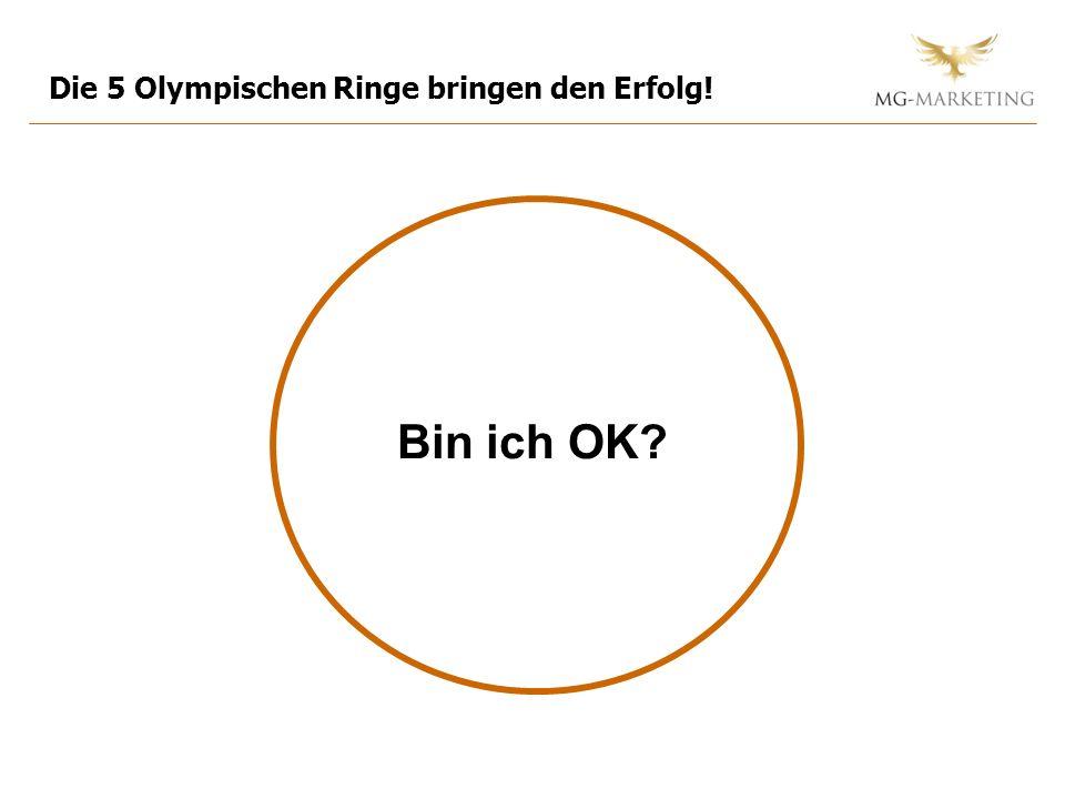 Bin ich OK? Die 5 Olympischen Ringe bringen den Erfolg!