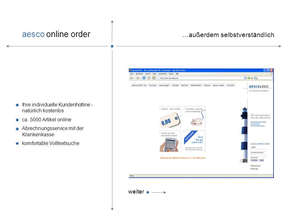 aesco online order – Ihr Einkaufsassistent … … mehr als die Summe aller Teile. weiter