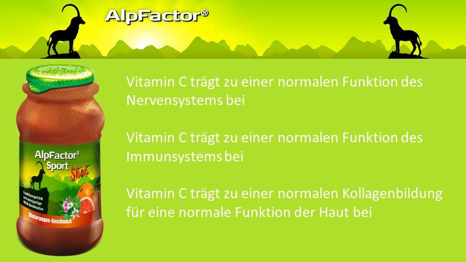 Vitamin C trägt zu einer normalen Funktion des Nervensystems bei Vitamin C trägt zu einer normalen Funktion des Immunsystems bei Vitamin C trägt zu einer normalen Kollagenbildung für eine normale Funktion der Haut bei