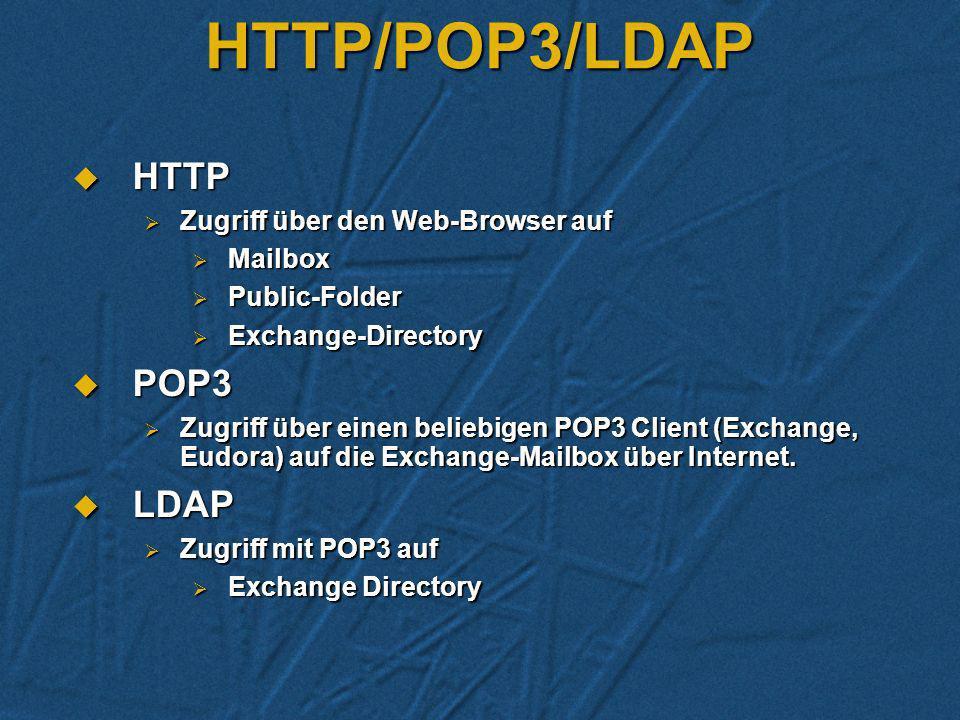 SMTP - Intranet Mail-Verbindung MS Welt - Unix Welt Mail-Verbindung MS Welt - Unix Welt Verbindung zwischen Exchange - Organisationen Verbindung zwisc