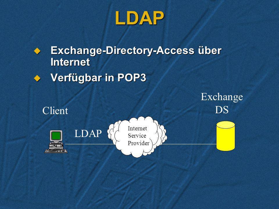 Anwendungs-Beispiele in der Praxis Zugriff von Service-Mitarbeiter auf die HOME-Mailbox und Public Folders über das Internet. Zugriff von Service-Mita
