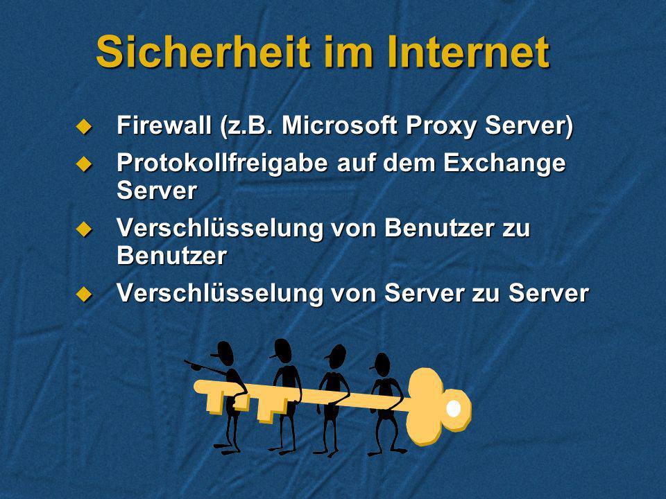 POP3 in der Praxis Zugriff über das Internet auf die HOME-Mailbox auf dem Exchange Server Zugriff über das Internet auf die HOME-Mailbox auf dem Excha