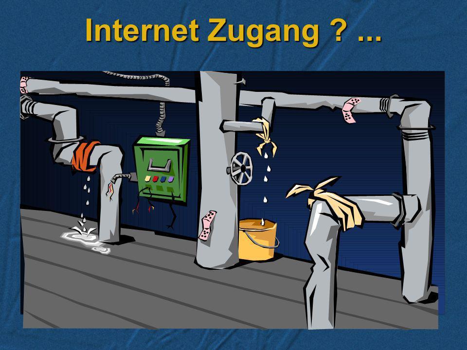 Wie kommen Sie ins Internet? Wahl des Service Providers Wahl des Service Providers Welche Dienste sollen genutzt werden? Welche Dienste sollen genutzt