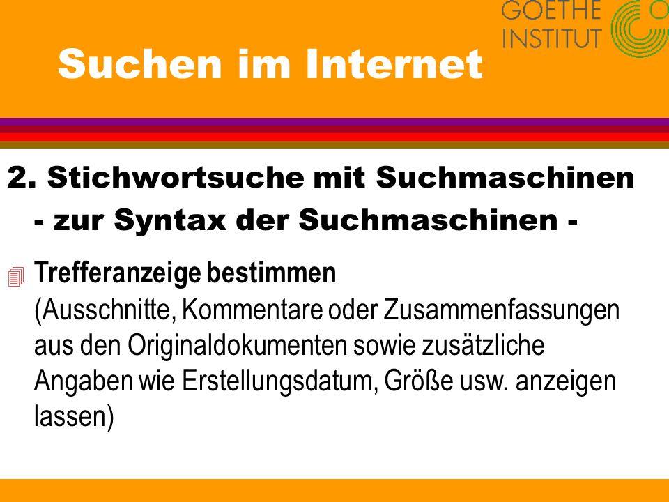 Suchen im Internet 3.