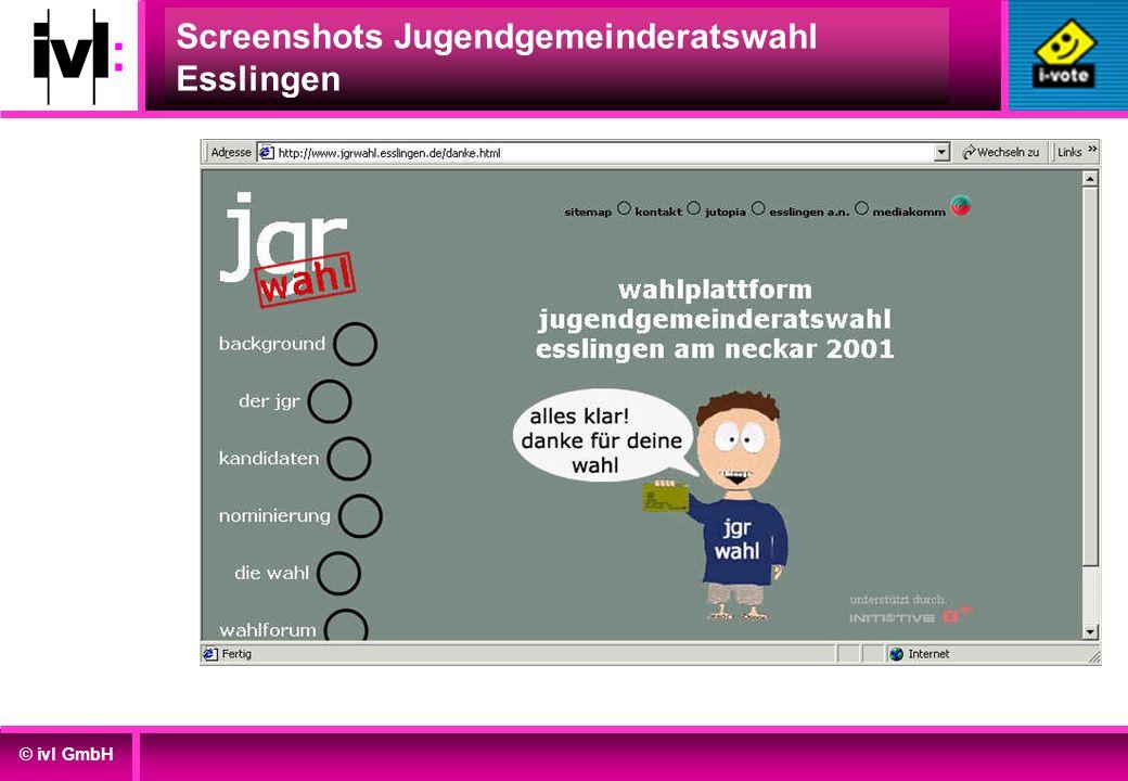 © ivl GmbH Screenshots Jugendgemeinderatswahl Esslingen