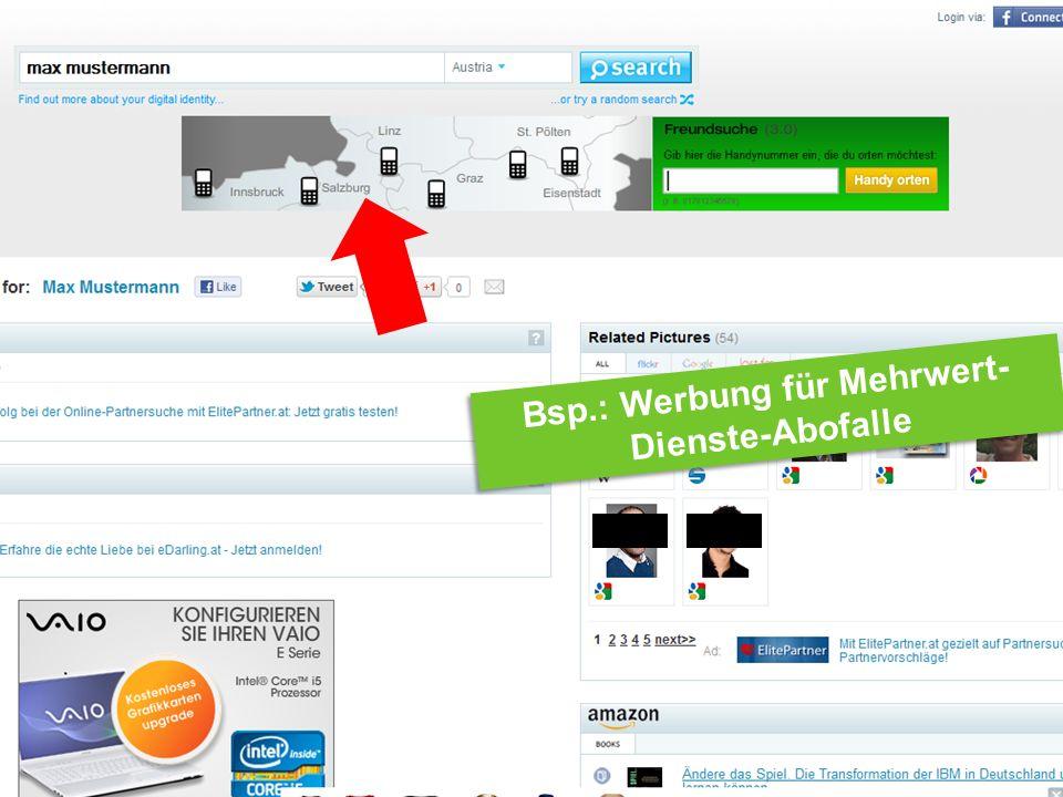 Internet Ombudsmann Bsp.: Werbung für Mehrwert- Dienste-Abofalle Bsp.: Werbung für Mehrwert- Dienste-Abofalle