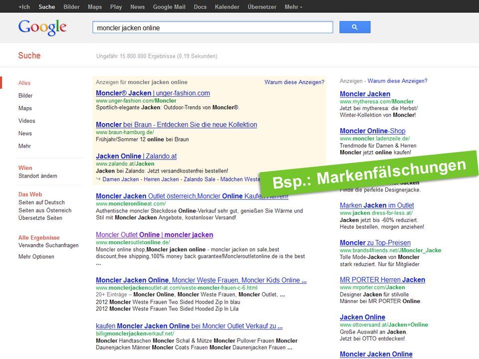 Internet Ombudsmann Bsp.: In-App-Käufe Bsp.: Markenfälschungen
