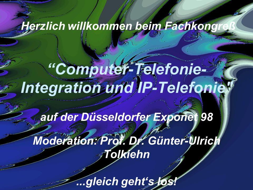 Exponet Fach-Kongresse, 25. 11. 98 G. Tolkiehn, © 1998 Tolkiehn & PartnerSeite 1 Herzlich willkommen beim Fachkongreß Computer-Telefonie- Integration