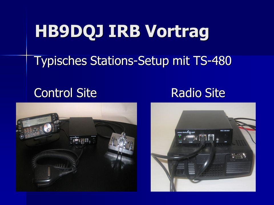 HB9DQJ IRB Vortrag Typisches Stations-Setup mit TS-480 Control SiteRadio Site