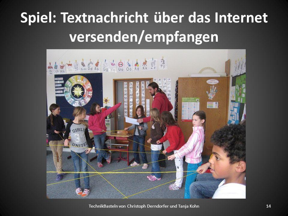 Spiel: Textnachricht über das Internet versenden/empfangen TechnikBasteln von Christoph Derndorfer und Tanja Kohn14