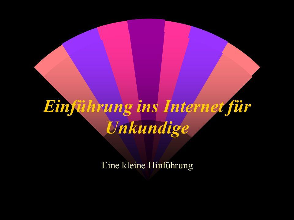 Einführung ins Internet für Unkundige Eine kleine Hinführung