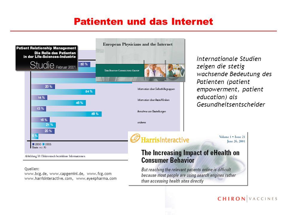 8 Internationale Studien zeigen die stetig wachsende Bedeutung des Patienten (patient empowerment, patient education) als Gesundheitsentscheider Quell