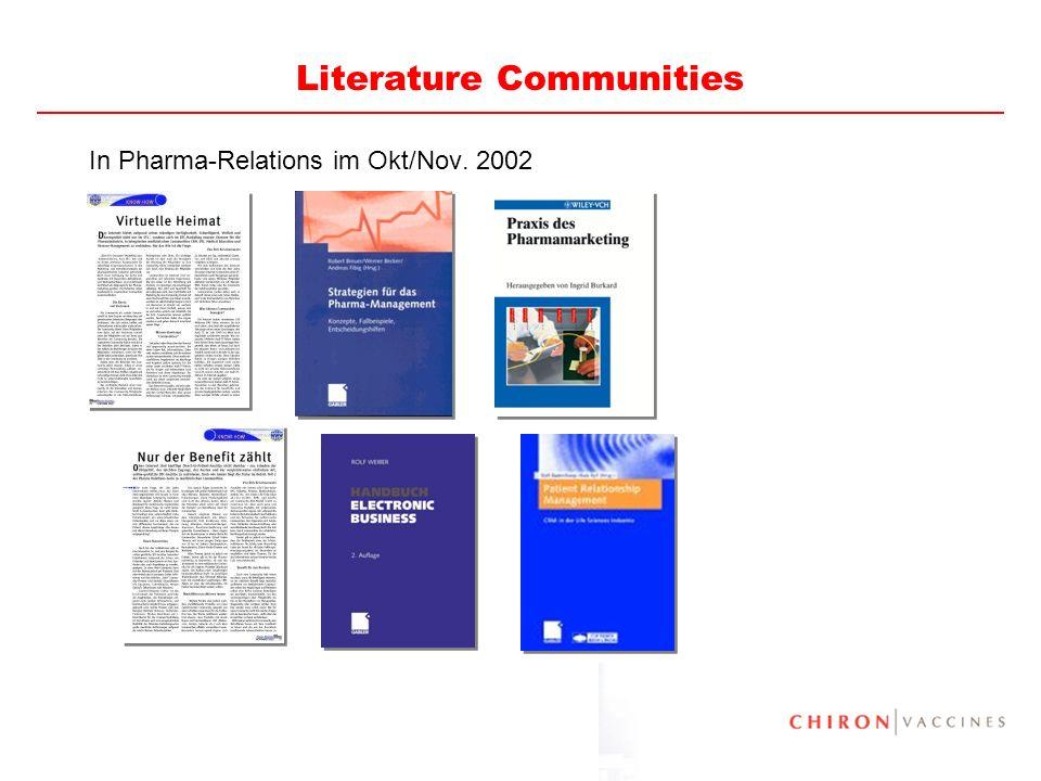 80 Literature Communities In Pharma-Relations im Okt/Nov. 2002