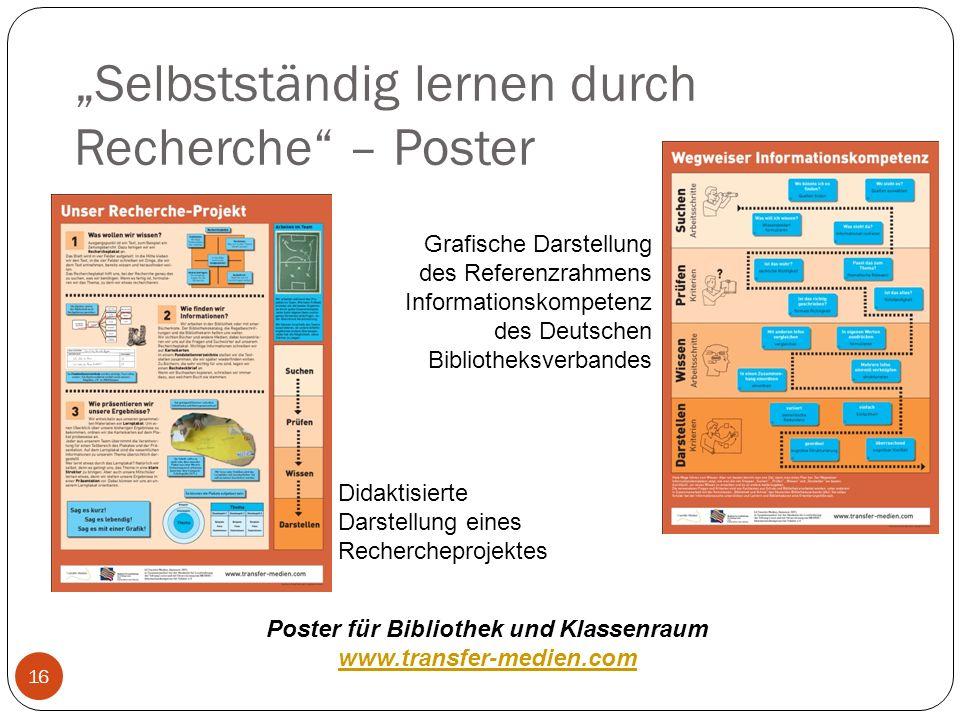 Selbstständig lernen durch Recherche – Poster 16 Grafische Darstellung des Referenzrahmens Informationskompetenz des Deutschen Bibliotheksverbandes Di
