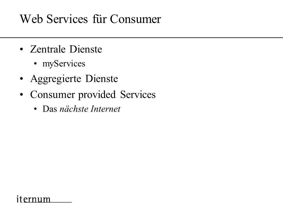 Inhalt Warum Web Services ? Web Services für Unternehmen Web Services für Consumer Das nächste Internet Zusammenfassung