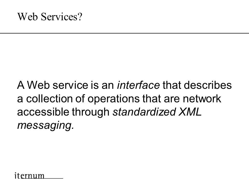 Inhalt Warum Web Services ? Web Services für Unternehmen Von EAI zum Value Net Web Services für Consumer Das nächste Internet Zusammenfassung