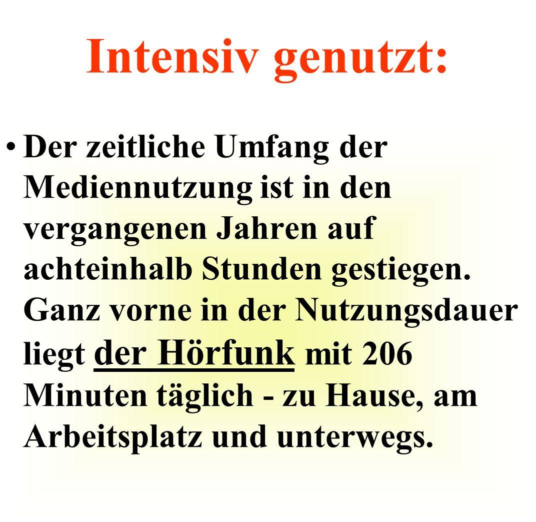 Bestens ausgestattet: Fernsehen und Radio stehen in Deutschland praktisch in jedem Haushalt.