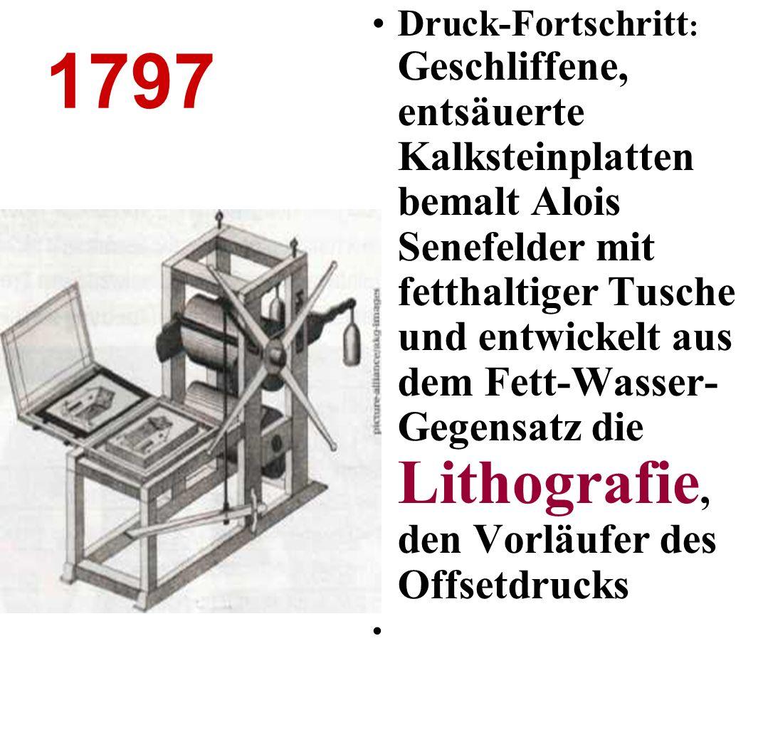 1884 Deutsch- Amerikaners Ottmar Mergenthaler beendet die Handarbeit, steigert Auflagen und Umfange der Zeitungen 6000 Lettern setzt die Linotype pro Stunde: Die erste Zeilensetzmaschine des
