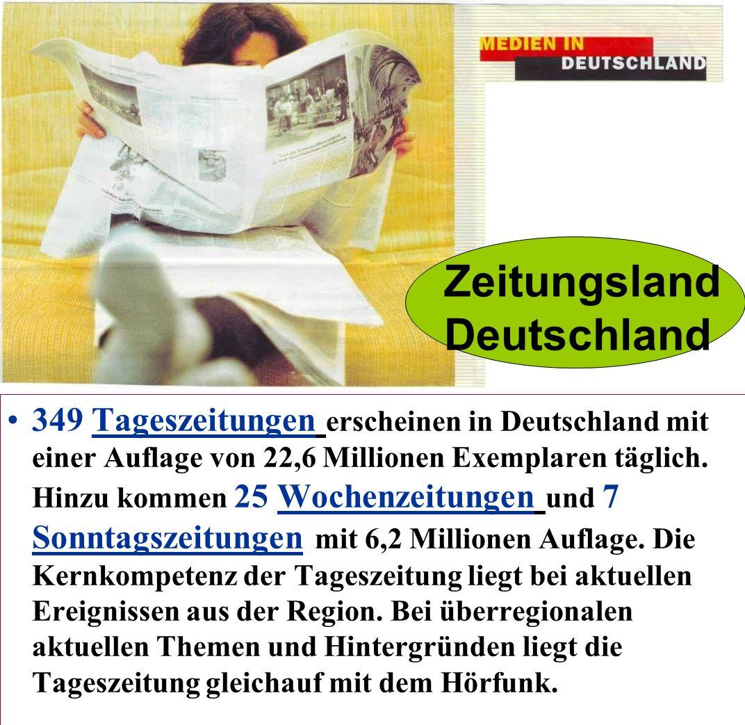 Jeden Morgen kaufen die Deutschen Zeitungen und Zeitschriften.