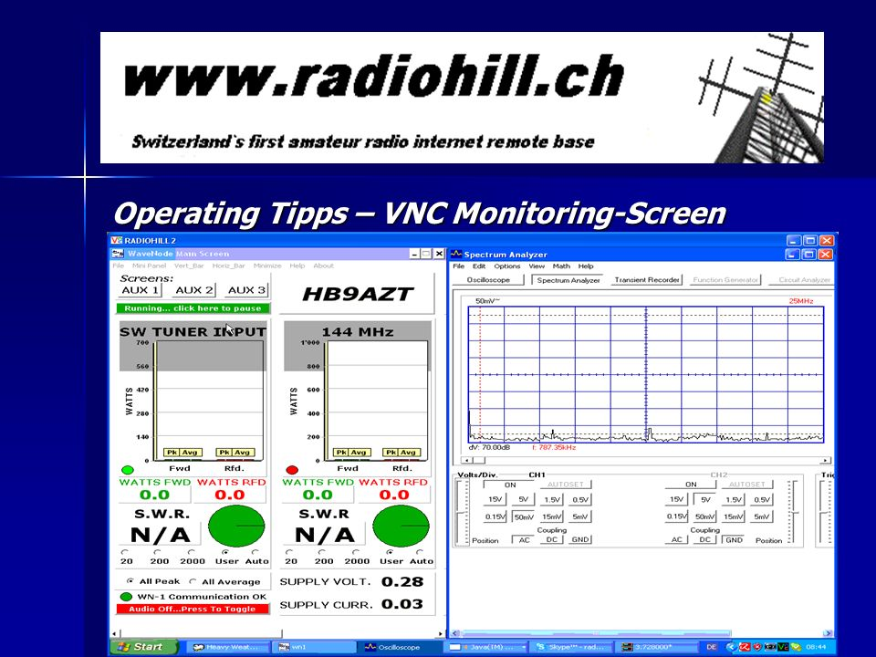 Operating Tipps – VNC Monitoring-Screen