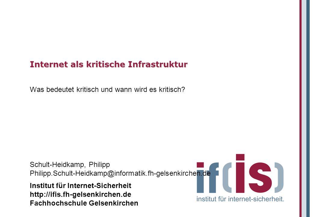 Institut für Internet-Sicherheit http://ifis.fh-gelsenkirchen.de Fachhochschule Gelsenkirchen Schult-Heidkamp, Philipp Philipp.Schult-Heidkamp@informa