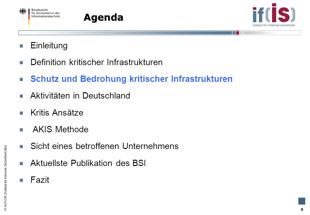 AUTOR, Institut für Internet-Sicherheit (ifis) 49 INESS –INternet Security imulation INESS –INternet Security Simulation
