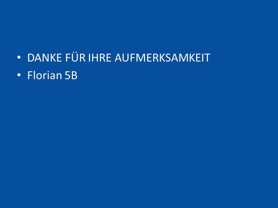 DANKE FÜR IHRE AUFMERKSAMKEIT Florian 5B