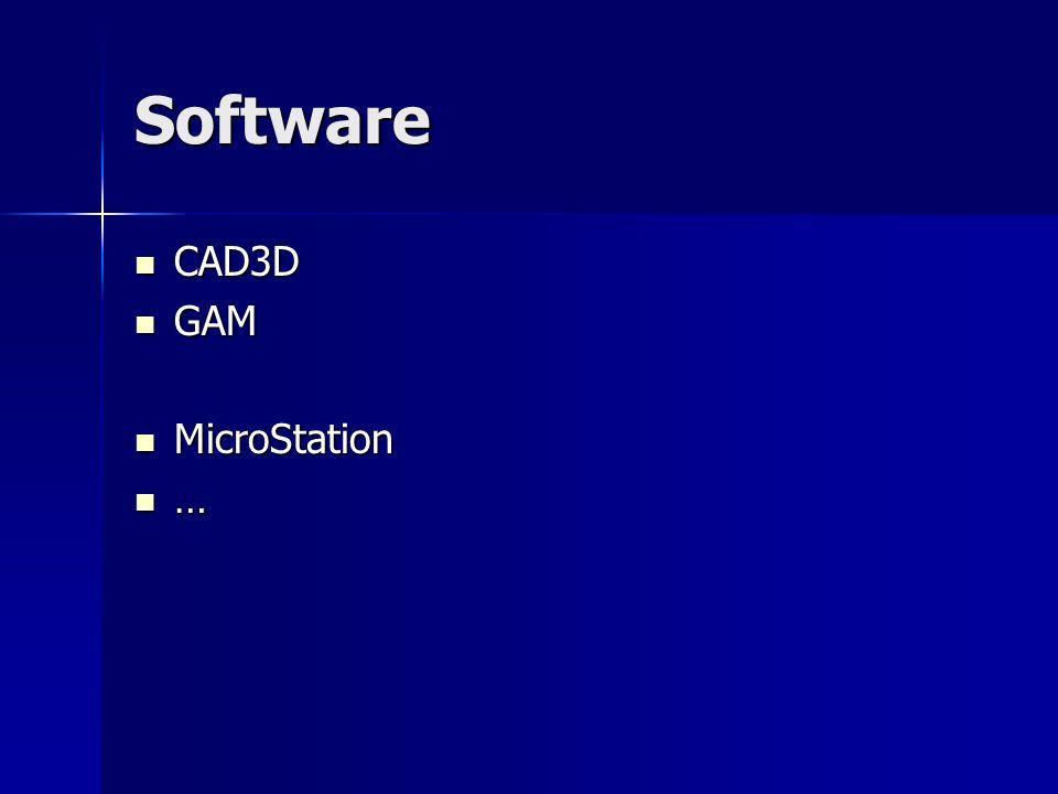 Software CAD3D CAD3D GAM GAM MicroStation MicroStation …