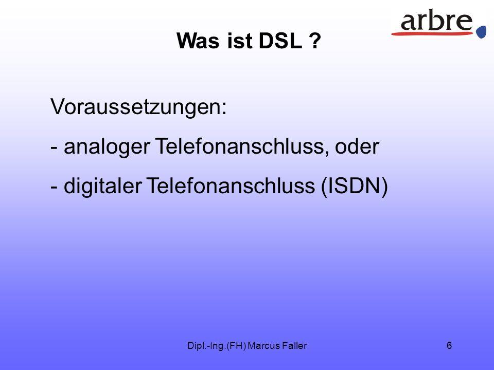 Dipl.-Ing.(FH) Marcus Faller6 Was ist DSL .