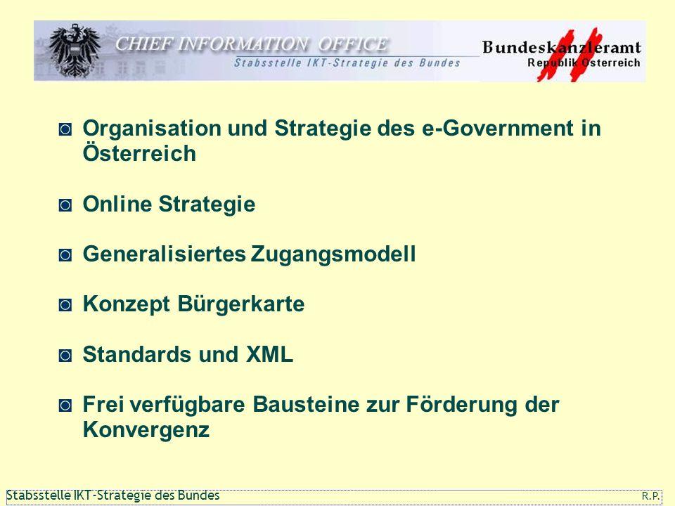 111 1 Stabsstelle IKT-Strategie des Bundes R.P. Organisation und Strategie des e-Government in Österreich Online Strategie Generalisiertes Zugangsmode