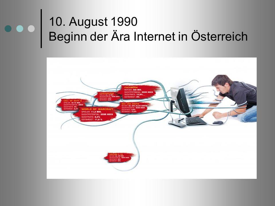 10. August 1990 Beginn der Ära Internet in Österreich