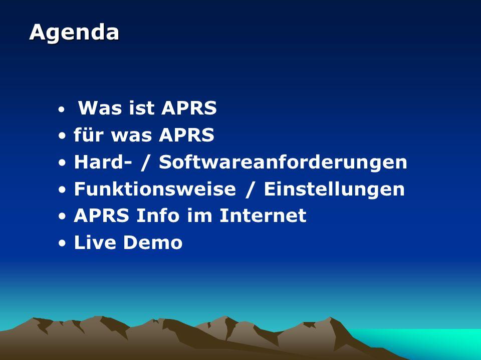 Informationen im Web APRS-Datenbanken APRS-Datenbanken speichern empfangene APRS-Daten ab und halten diese vor.
