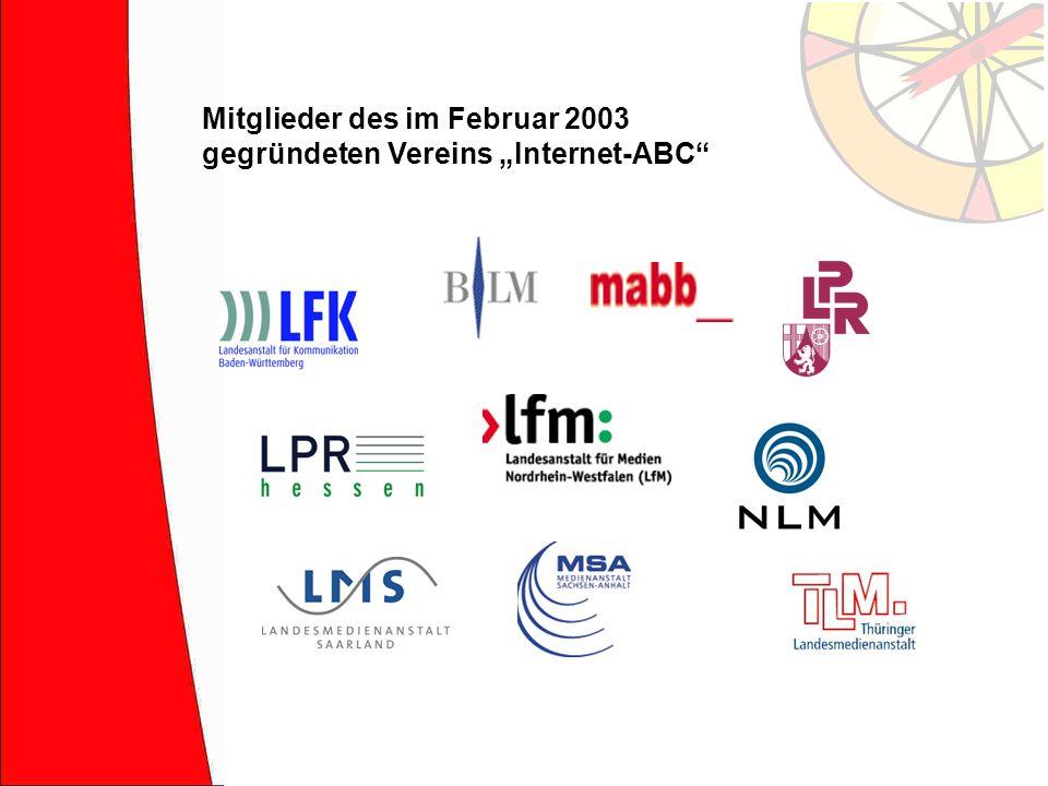Mitglieder des im Februar 2003 gegründeten Vereins Internet-ABC