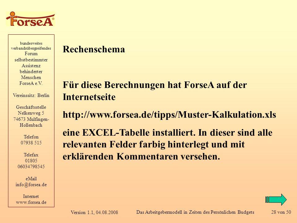 bundesweites verbandsübergreifendes Forum selbstbestimmter Assistenz behinderter Menschen ForseA e.V.