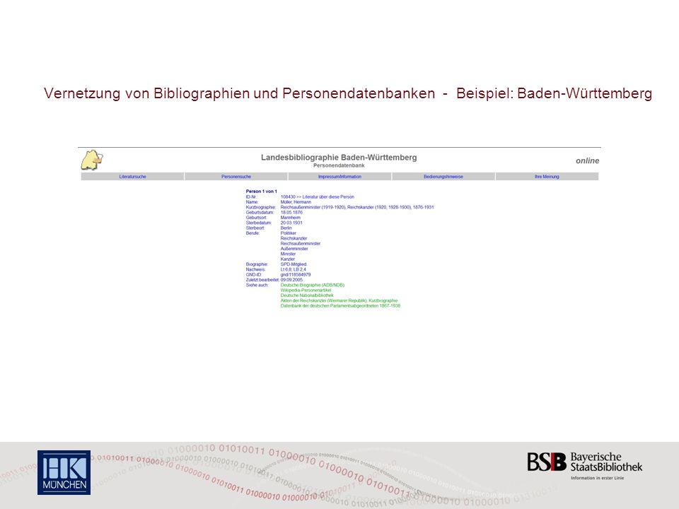 Vernetzung von Bibliographien und Personendatenbanken - Beispiel: Rheinland-Pfalz