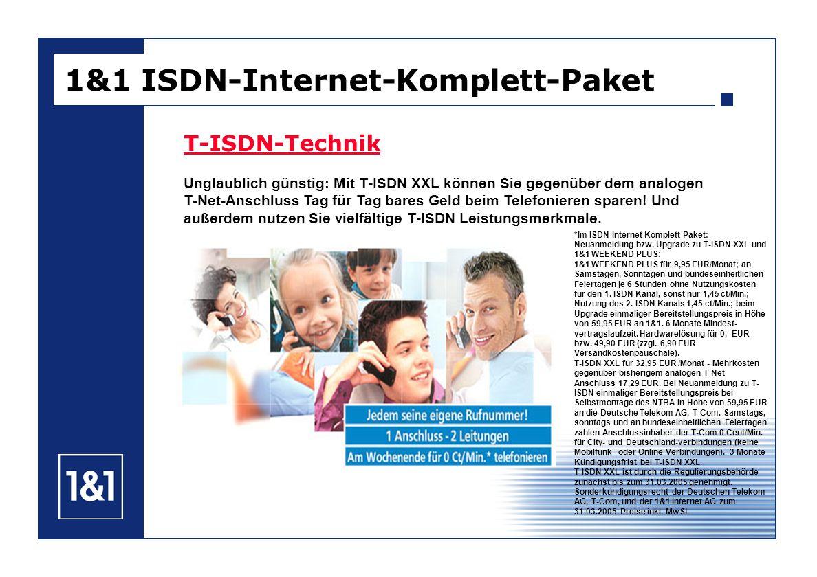 T-ISDN-Technik Unglaublich günstig: Mit T-ISDN XXL können Sie gegenüber dem analogen T-Net-Anschluss Tag für Tag bares Geld beim Telefonieren sparen!